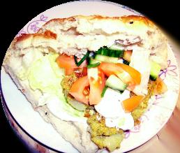Der leckere vegetarische Falafel-Döner