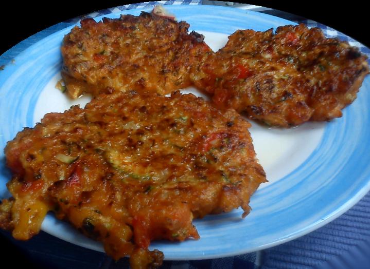 Zucchini-Paprika-Puffer