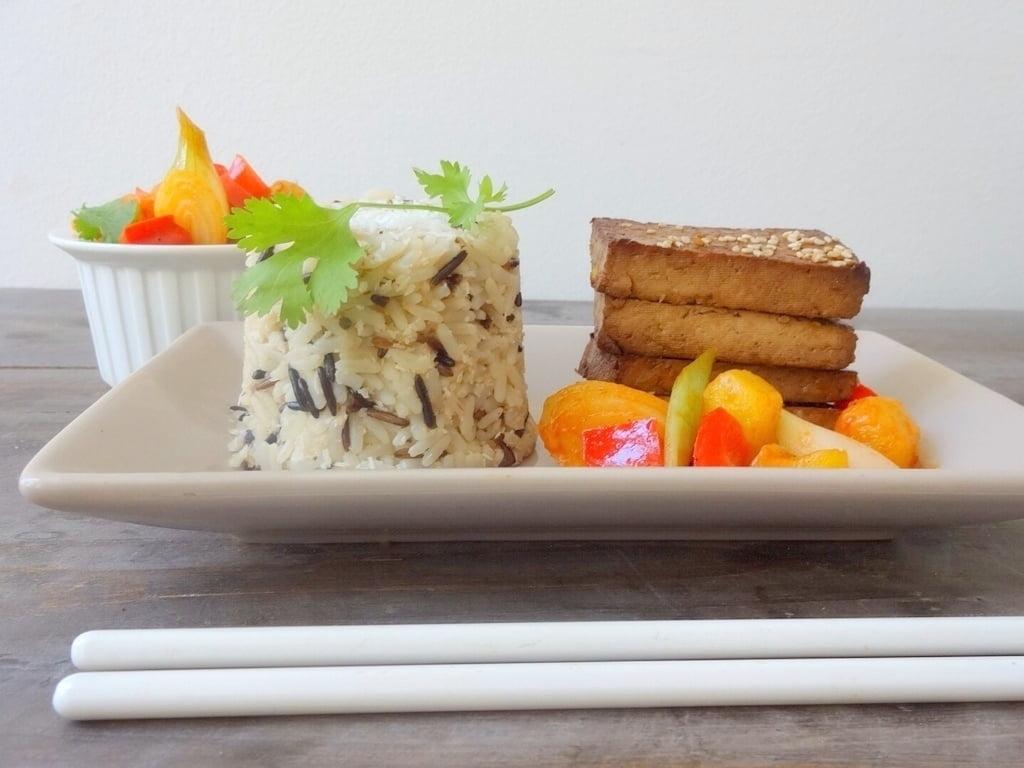 Tofu süß-sauer & Kokos-Wildreis