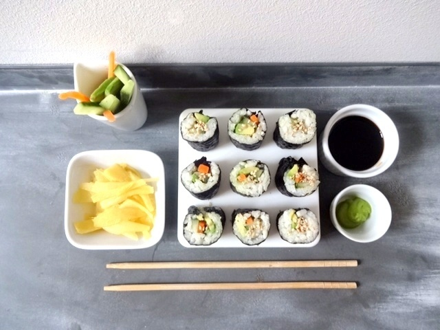 Sushi vegan