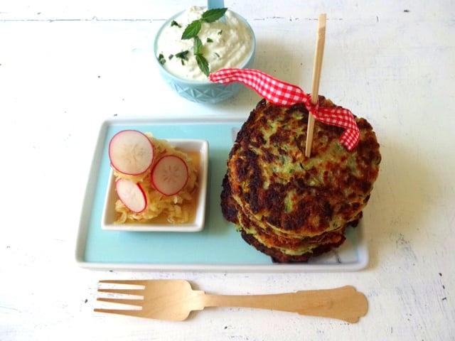Zucchini-Mandel-Puffer 1
